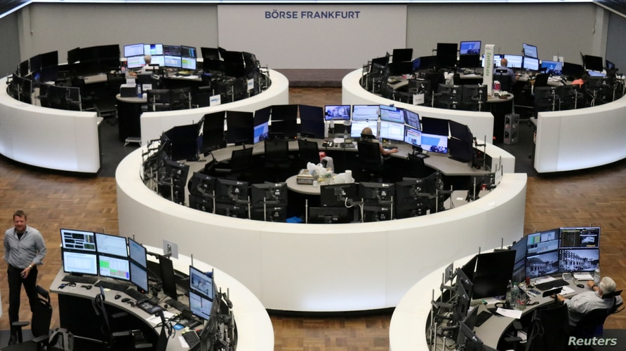 The German share price index DAX graph is pictured at the stock exchange in Frankfurt, Germany, July 22, 2020. REUTERS/Staff