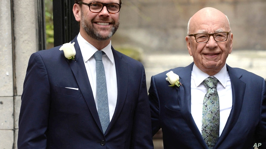 Photo by: DP/AAD/STAR MAX/IPx 2020 7/31/20 James Murdoch resigns from the Board of Directors at News Corp, the parent company…