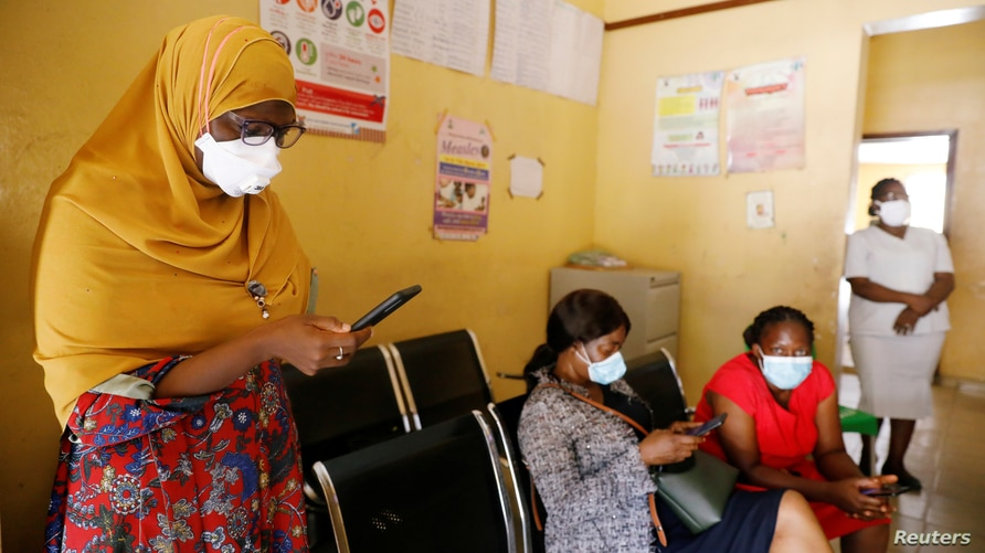 FILE - Members of the contact-tracing team are seen at the Primary Healthcare Centre, amid the spread of the coronavirus disease (COVID-19) in Lagos, Nigeria, May 7, 2020.