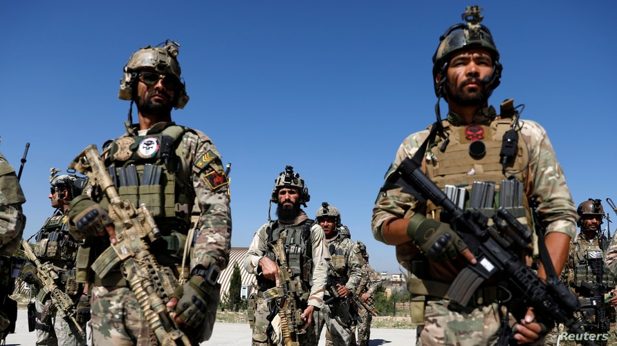FILE - Afghan Special Forces in Kabul, Afghanistan.