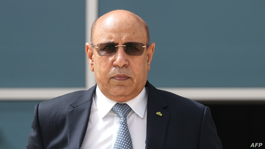 FILE - Mauritania President Mohamed Ould Cheikh El Ghazouani poses for a photo during the G5 Sahel summit in Nouakchott, Mauritania, June 30, 2020.