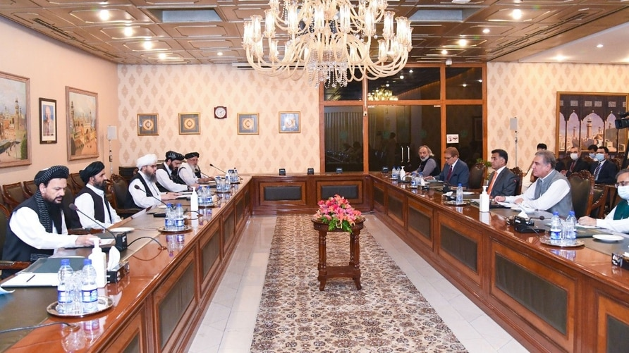 Pakistani officials and Taliban delegates meet in Islamabad, Aug. 25, 2020. (Photo courtesy of Pakistan Foreign Office).