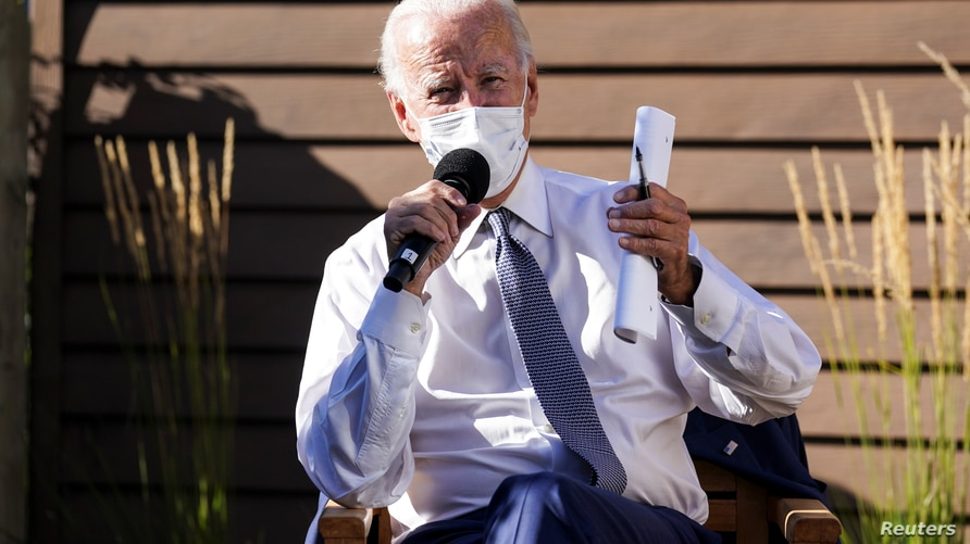 Democratic U.S. presidential nominee and former Vice President Joe Biden speaks about safely reopening schools amid the…