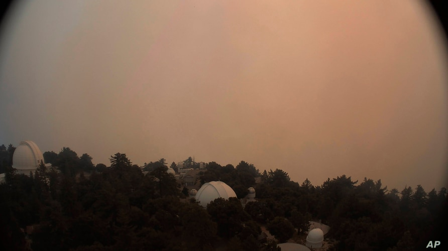 This photo provided by High Performance Wireless Research and Education Network (HPWREN) and ALERTWildfire from a camera atop…