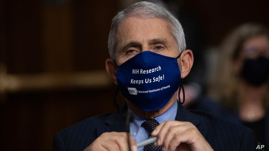 Dr. Anthony Fauci, Director of the National Institute of Allergy and Infectious Diseases, listens during a Senate Senate Health, Education, Labor, and Pensions Committee Hearing on the federal government response to COVID-19 Capitol Hill, Sept. 23, 2020.
