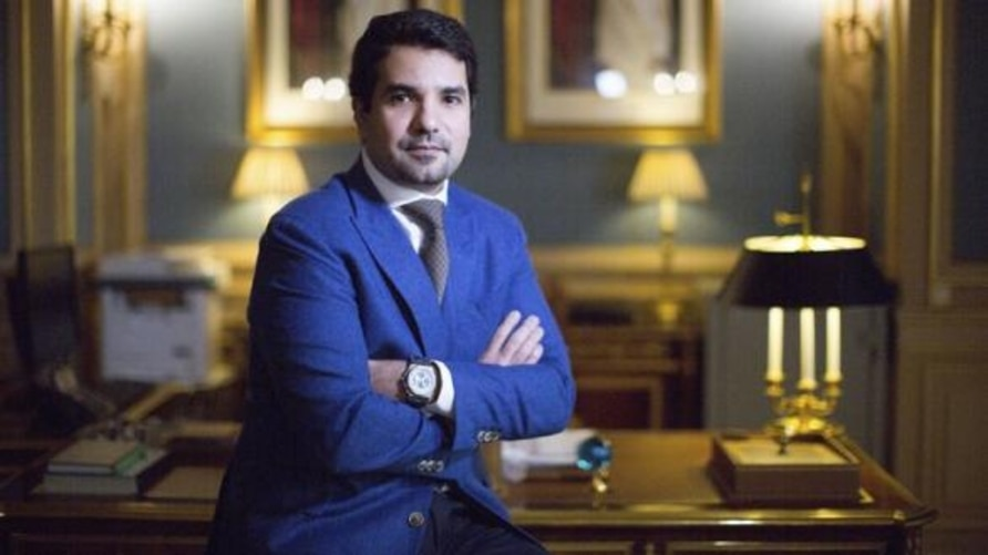 Qatar's Ambassador to the U.S. Sheikh Meshal Bin Hamad Al-Thani is seen in an official photo posted on the website of the Qatari Embassy in Washington, D.C. (washington.embassy.qa)