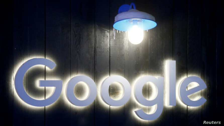 FILE PHOTO: The logo of Google is seen in Davos, Switzerland Januar 20, 2020. Picture taken January 20, 2020. REUTERS/Arnd…