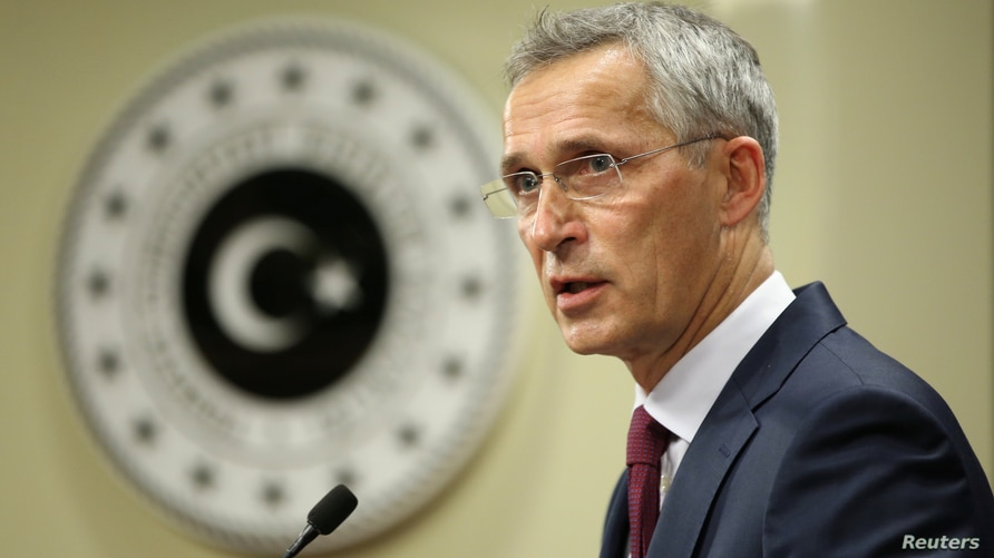 NATO Secretary General Jens Stoltenberg speaks during a news conference in Ankara, Turkey October 5, 2020. Turkish Foreign…