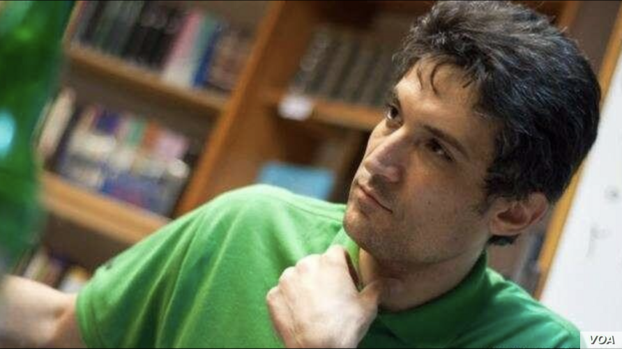 Undated image of jailed Iranian women's rights activist Farhad Meysami, whom a source told VOA Persian contracted the coronavirus in northern Iran's Rajaei Shahr prison in October 2020.
