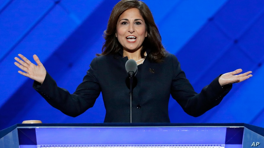 FILE - In this July 27, 2016, file photo, Neera Tanden, president of the Center for American Progress, speaks at the Democratic…
