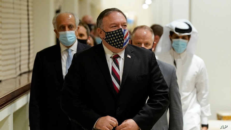 Pompeo Meets With Afghan, Taliban Negotiators in Qatar   Voice of America -  English