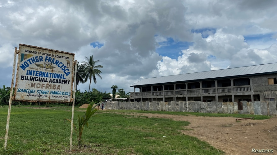 A general view of the school following a shooting, in Kumba, Cameroon, Oct. 25, 2020.