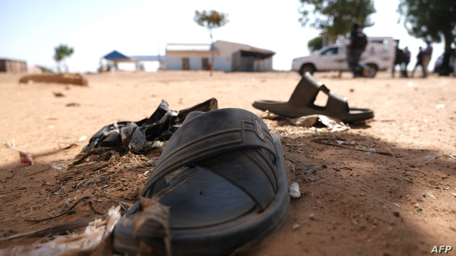 A student footwear IS left behind after gunmen abducted students at the Government Science school in Kankara, in northwestern…