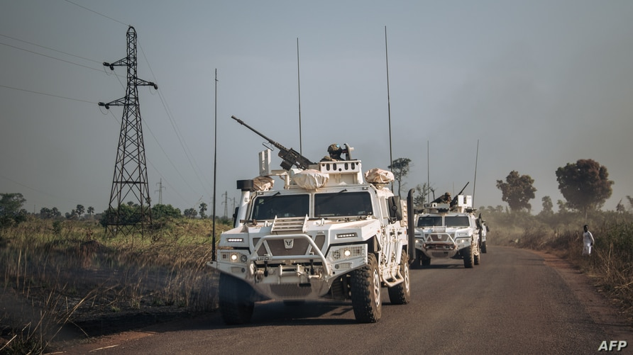 Portuguese special forces of the U.N. Multidimensional mission in the Central African Republic rush to stop the clashes between armed groups and the Central African Army supported by Russian private security elements, in Boali, Dec. 22, 2020.
