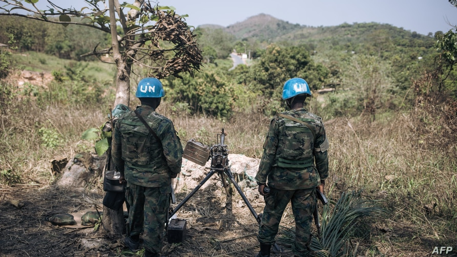 Rwandan peacekeepers of the United Nations Multidimensional Integrated Stabilization Mission in the Central African Republic …