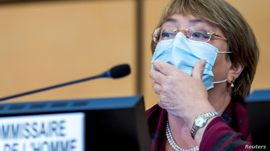 FILE - United Nations' High Commissioner for Human Rights Michelle Bachelet.