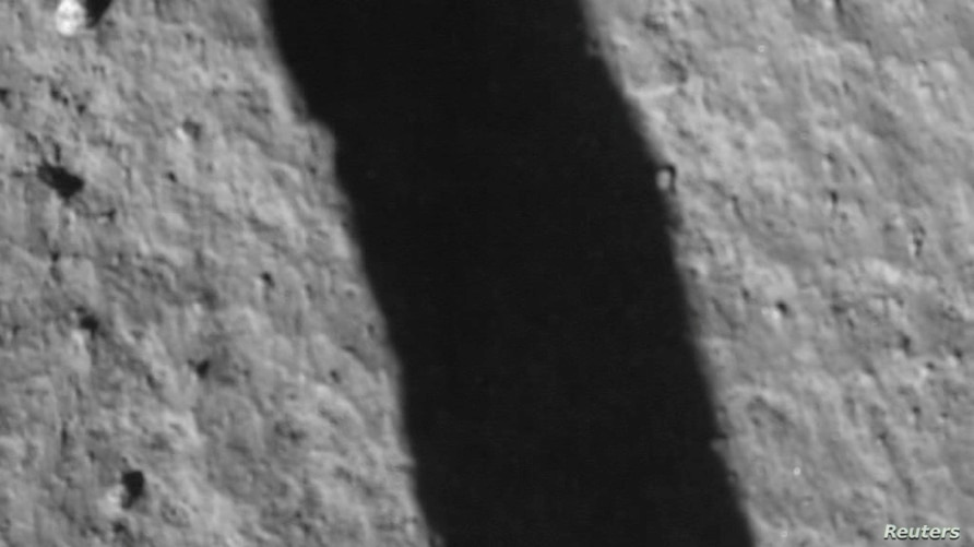 An image taken by Chang'e 5 spacecraft after its landing on the moon is seen in this handout provided by China National Space…