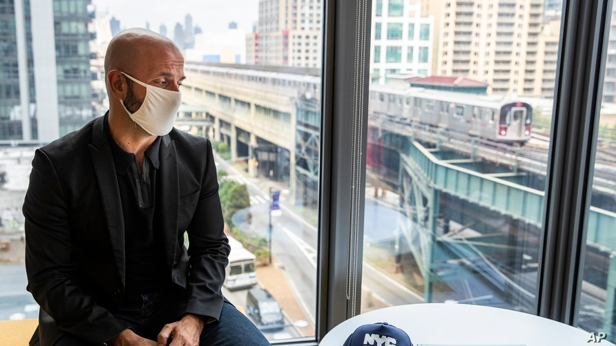 Dr. Demetre Daskalakis, New York City deputy health commissioner, speaks to a reporter on battling the coronavirus pandemic through contact tracing.