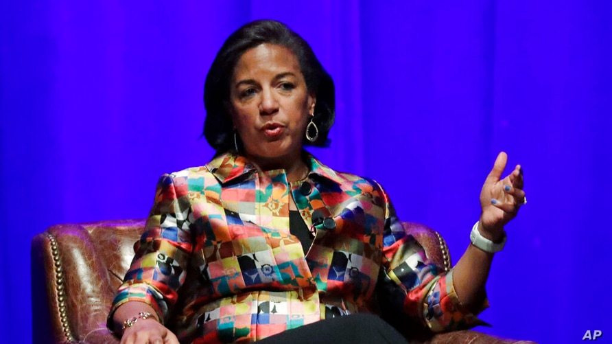 FILE - In this Feb. 19, 2020 file photo, former national security adviser Susan Rice takes part in a discussion on global…