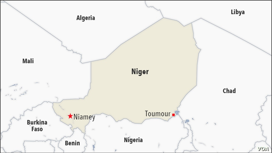 Map of Toumour Niger