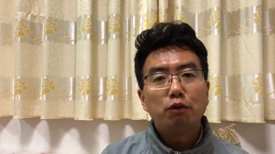 Lawyer Chang Weiping, seen in this image taken from video, is accused of inciting subversion of state power in China. (YouTube)