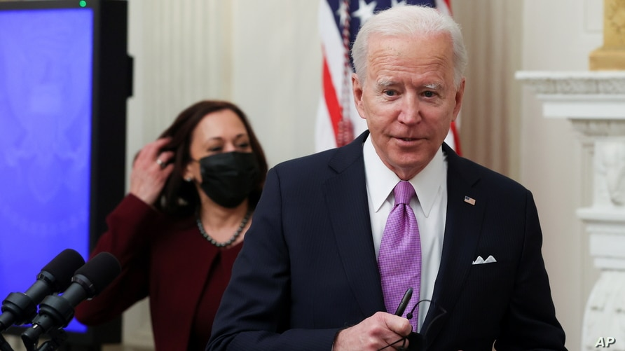 U.S. President Joe Biden speaks about his administration's plans to fight the coronavirus disease (COVID-19)