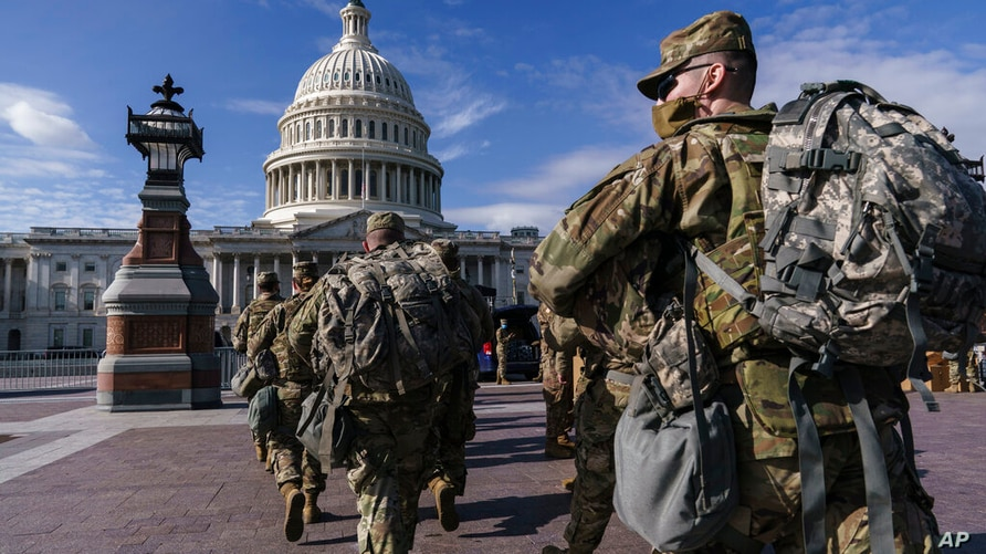 National Guard troops reinforce security around the U.S. Capitol ahead of expected protests leading up to President-elect Joe…
