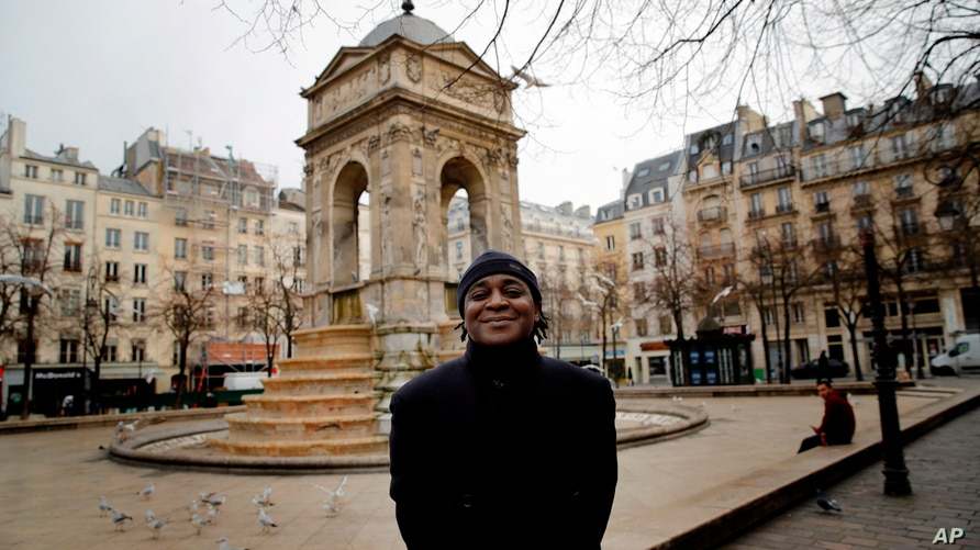 Omer Mas Capitolin poses in Paris, Jan.26, 2021. In a first for France, six NGOs launched a class-action lawsuit Wednesday against the French government for alleged systemic discrimination by police officers carrying out identity checks.
