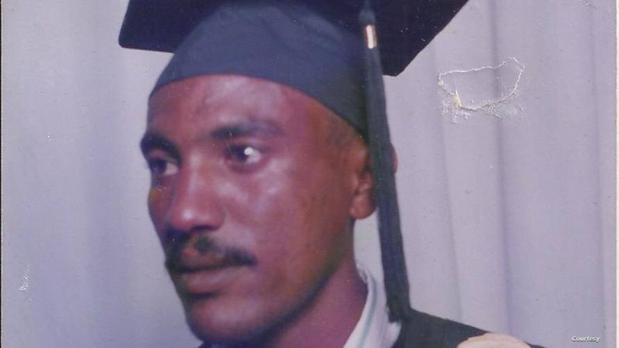 Journalist Amanuel Asrat, seen in this 1996 graduation photo, has been detained in Eritrea since September 2001. (Photo courtesy of family)