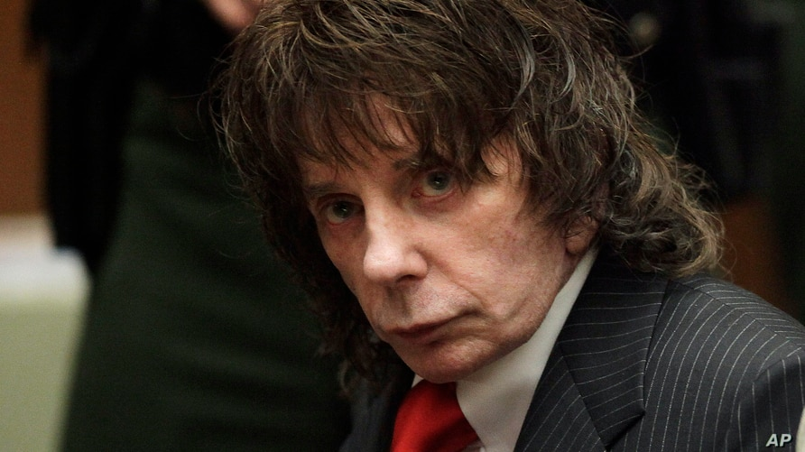 FILE - Music producer Phil Spector sits in a courtroom for his sentencing in Los Angeles, May 29, 2009.