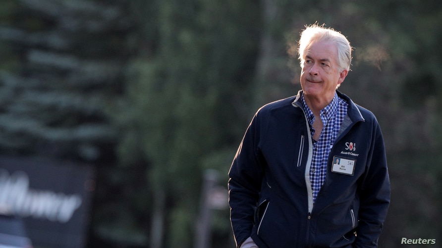 FILE - Veteran diplomat William Burns, currently president of the Carnegie Endowment for International Peace, is seen at the annual Allen and Co. Sun Valley media conference in Sun Valley, Idaho, July 11, 2019.