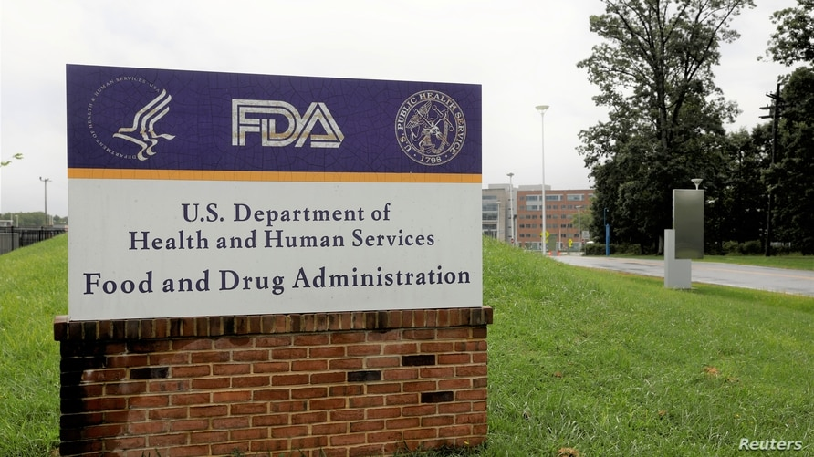 FILE PHOTO: Signage is seen outside of the Food and Drug Administration (FDA) headquarters in White Oak, Maryland, U.S., August 29, 2020.