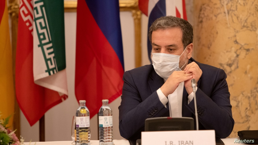 FILE PHOTO: Iran's top nuclear negotiator, Abbas Araqchi, attends a meeting of the JCPOA Joint Commission in Vienna, Austria,…