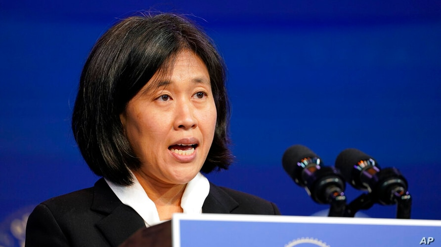 FILE - In this Dec. 11, 2020, file photo Katherine Tai, the Biden administration's choice totake overas the U.S. trade…