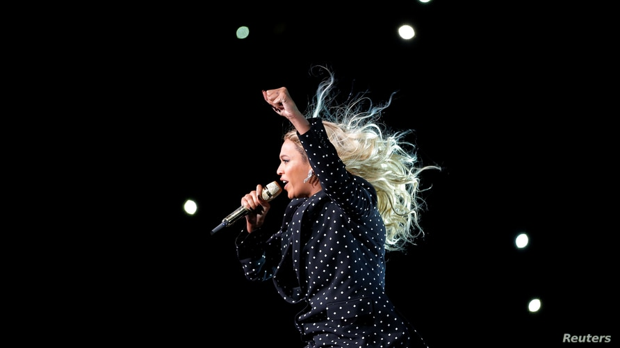 FILE - Beyonce performs in Cleveland, Ohio, Nov. 4, 2016.