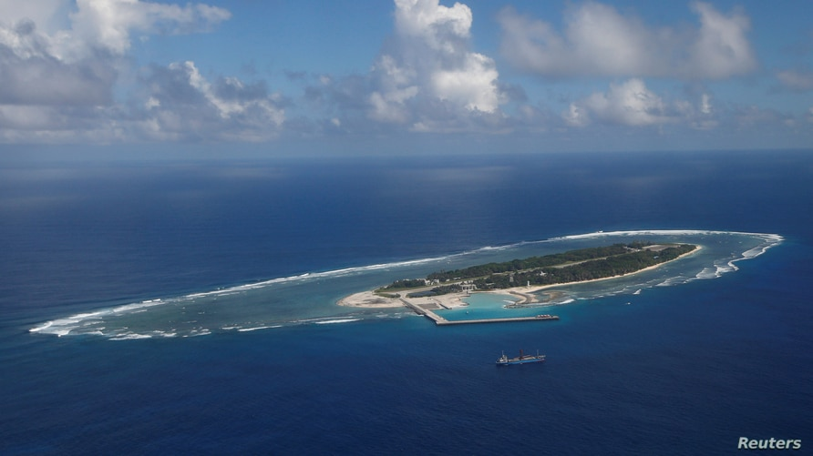 An aerial view shows of Itu Aba, which the Taiwanese call Taiping, in the South China Sea, November 29, 2016. REUTERS/Fabian…