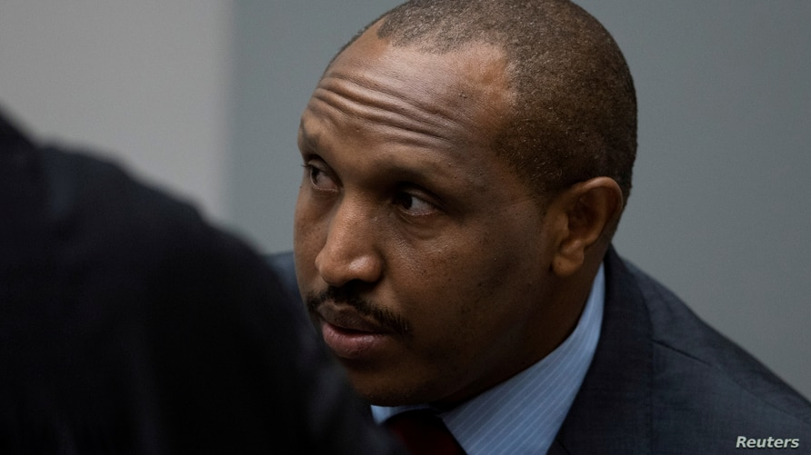 FILE - Congolese militia commander Bosco Ntaganda is seen in the courtroom of the International Criminal Court (ICC) in The Hague, Netherlands, November 7, 2019.
