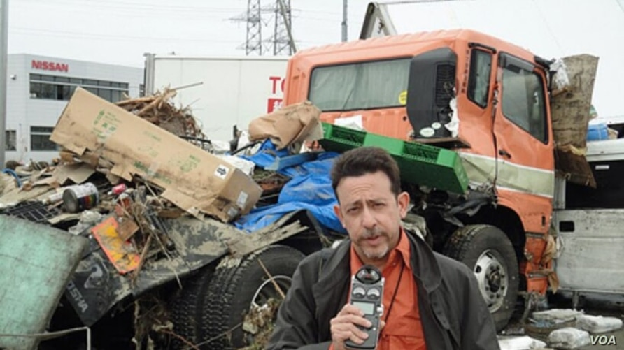 FILE - VOA's Steve Herman was among the first Western reporters on the scene immediately following the accident at the Fukushima Daiichi nuclear power plant.