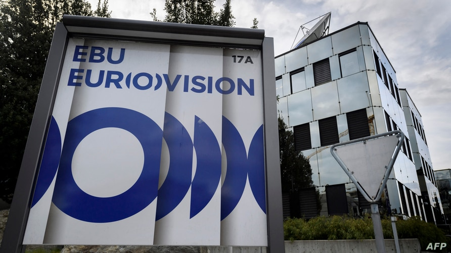 A picture shows the headquarters of the European Broadcasting Union (EBU) which organises the hugely popular Eurovision Song…