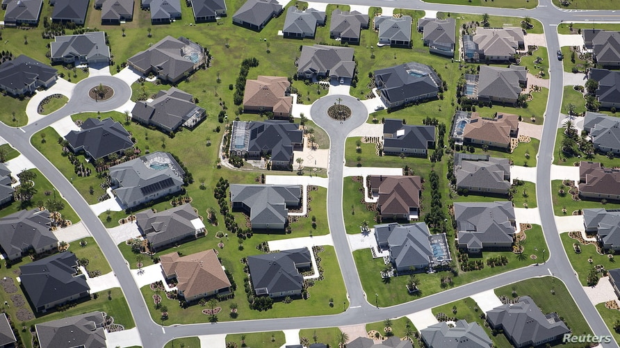 FILE -- The Villages retirement community in Florida, which was one of the fastest growing U.S. states between 2010 and 2020.