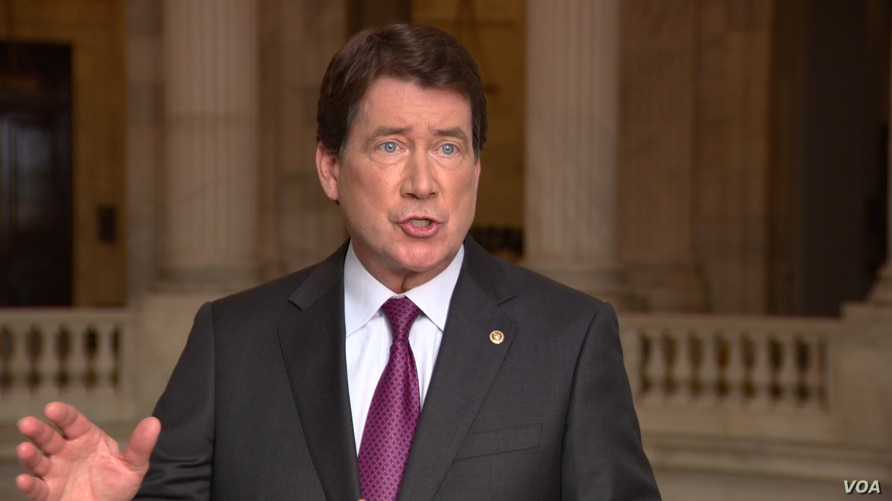 Caption: US Senator and former US Ambassador to Japan William (Bill) Hagerty of Tennessee in an interview with VOA on Capital Hill on April 14th, 2021.