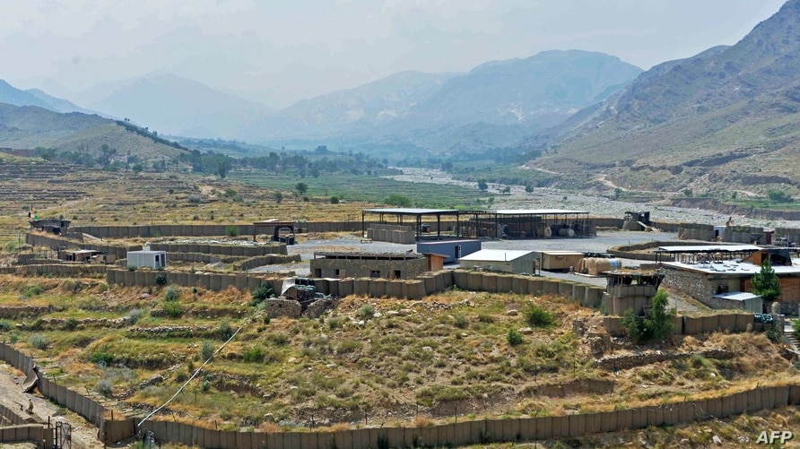 (FILES) In this file photo taken on July 26, 2020, a general view of a US military base, which has been recently handed over to…