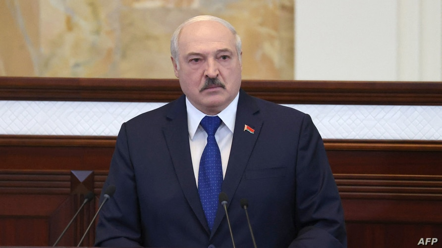 Belarusian President Alexander Lukashenko speaks during his meeting with parliamentarians, members of Constitutional Commission…