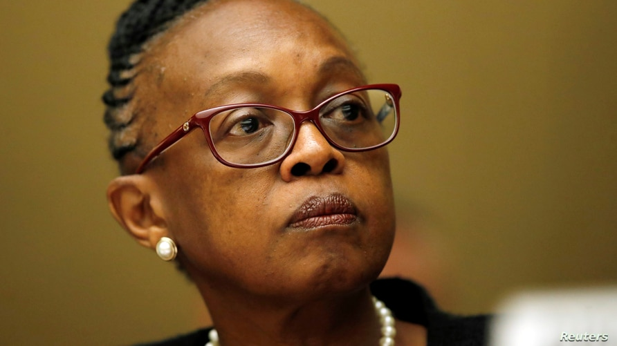 FILE PHOTO: Matshidiso Moeti, World Health Organization (WHO) Regional Director for Africa, attends a briefing at the United…