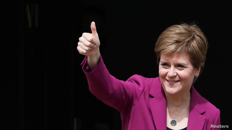 Scotland's First Minister Nicola Sturgeon arrives at Bute House, in Edinburgh, Scotland, Britain, May 9, 2021. REUTERS/Russell…