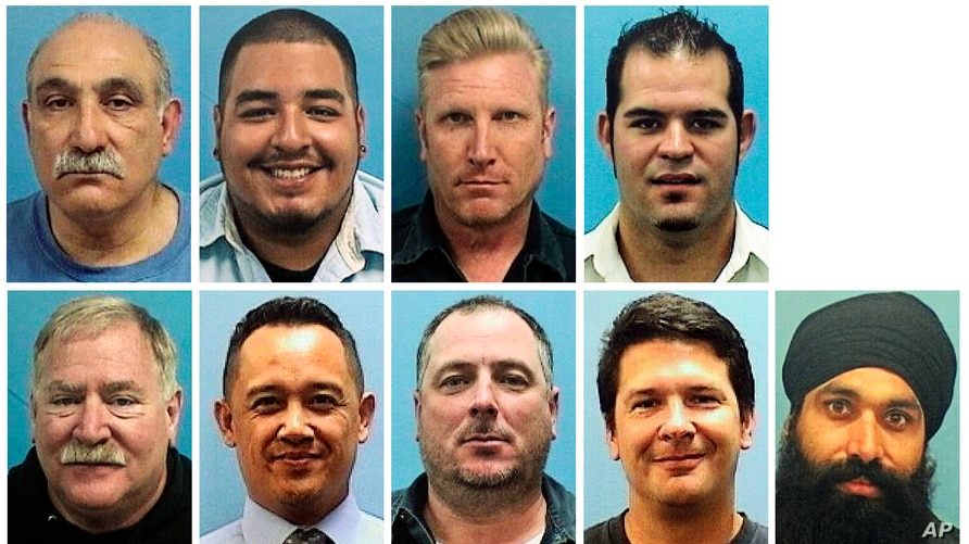 This combo of images provided by the Valley Transportation Authority shows the nine victims of a shooting at a VTA rail yard.