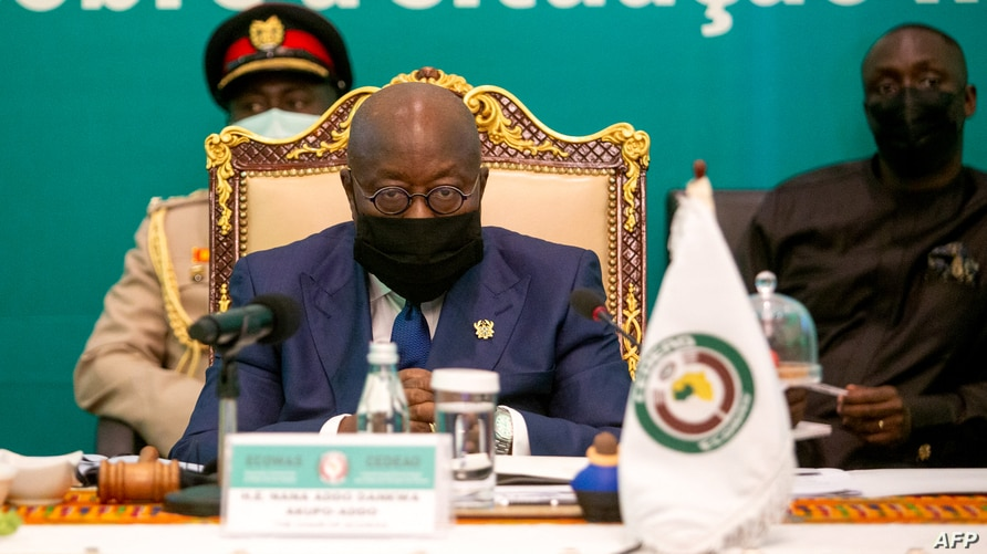 President of Ghana Nana Akufo-Addo chairs the ECOWAS Extraordinary Summit on the situation in Mali, in Accra, May 30, 2021.