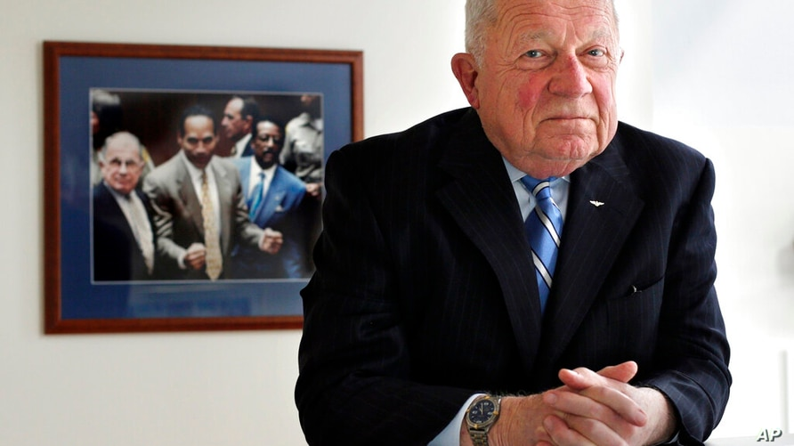 FILE - In this May 22, 2014, file photo, famed defense attorney F. Lee Bailey poses in his office in Yarmouth, Maine. Bailey,…