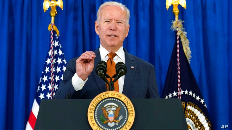 President Joe Biden talks about the May jobs report from the Rehoboth Beach Convention Center in Rehoboth Beach, Del., Friday,…
