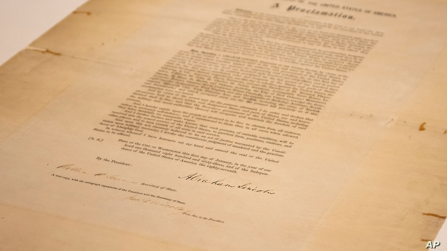 This updated handout photo provided by the Abraham Lincoln Presidential Library and Museum on June 8, 2021.